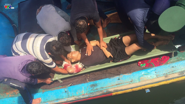 Hải Phòng: Cấp cứu kịp thời ngư dân bị cá mập tấn công