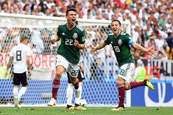 Đương kim vô địch Đức bất ngờ gục ngã trước Mexico