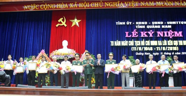 Quảng Nam: Kỷ niệm 70 năm ngày Bác Hồ ra lời kêu gọi thi đua ái quốc