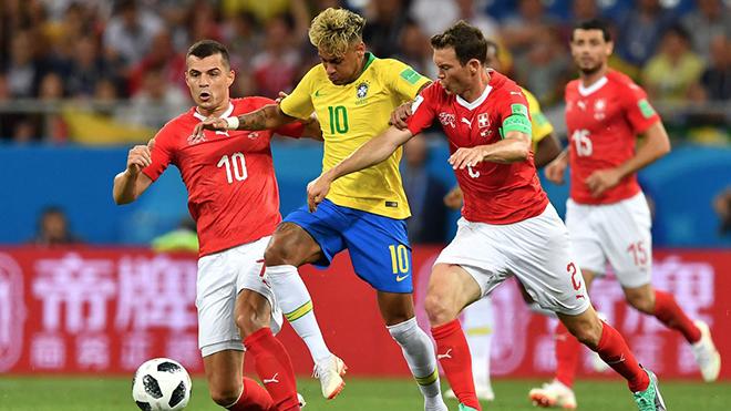 Brazil bị Thụy Sĩ cầm hoà 1-1