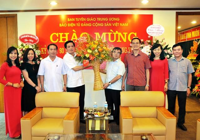 Ban Tuyên giáo Vĩnh Phúc thăm, chúc mừng Báo điện tử Đảng Cộng sản Việt Nam