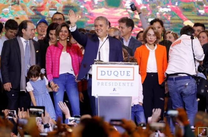 Ông Ivan Duque trở thành tân Tổng thống Colombia