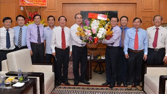 Bí thư Thành ủy TP.Hồ Chí Minh thăm và chúc mừng các cơ quan báo chí