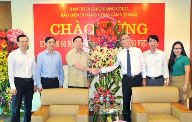 Đảng ủy khối các cơ quan Trung ương chúc mừng Báo điện tử Đảng Cộng sản Việt Nam