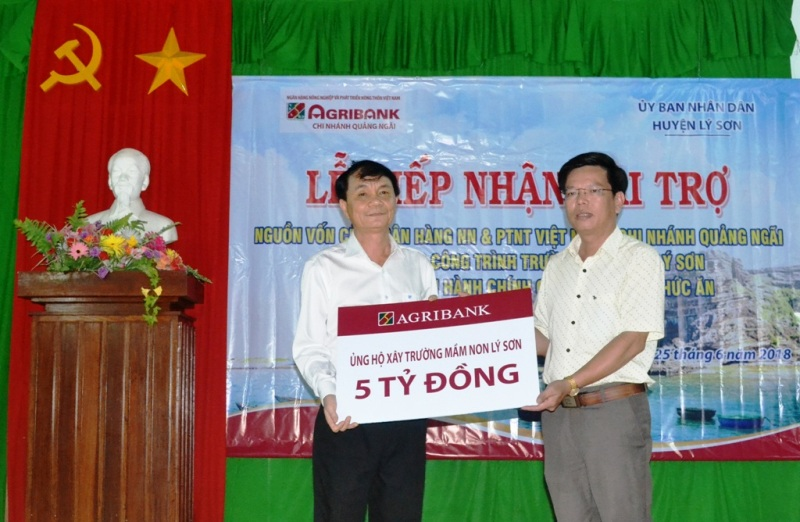 Agribank hỗ trợ huyện đảo Lý Sơn xây trường mầm non đạt chuẩn quốc gia  