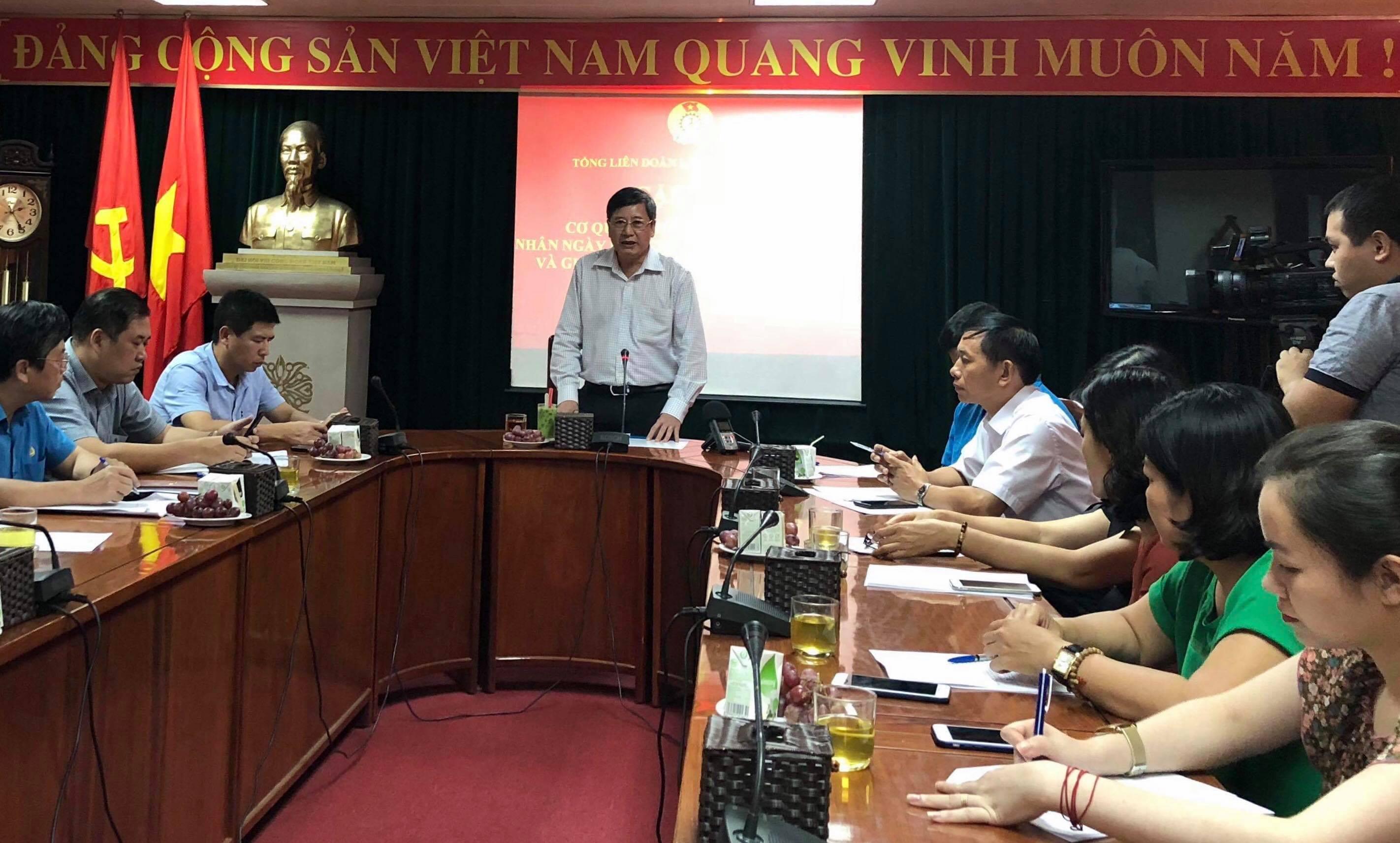 Đại hội XII Công đoàn Việt Nam dự kiến diễn ra vào cuối tháng 9/2018