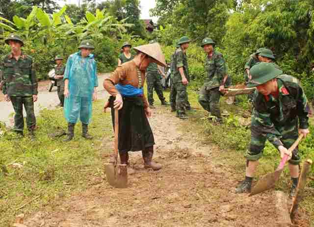 LLVT tỉnh Cao Bằng chung sức xây dựng nông thôn mới