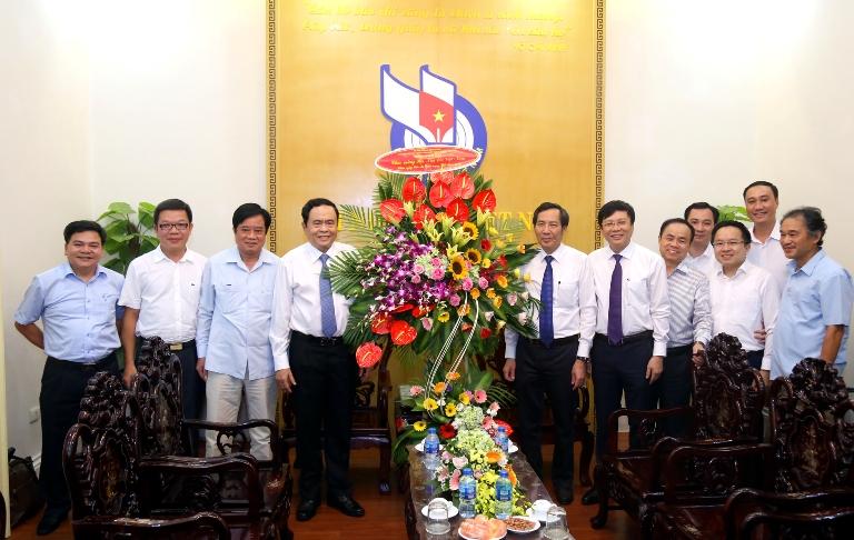 Chủ tịch Ủy ban Trung ương MTTQ Việt Nam thăm, chúc mừng các cơ quan báo chí nhân ngày 21/6