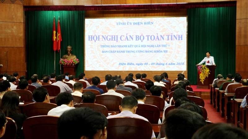 Điện Biên: Thông báo nhanh kết quả Hội nghị Trung ương 7, khóa XII