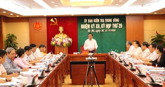 Kỳ họp 26 của Ủy ban Kiểm tra Trung ương