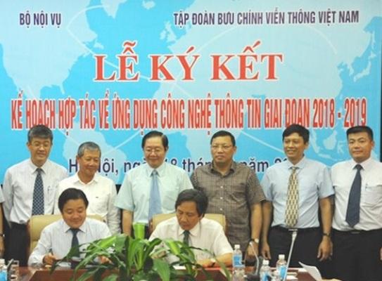 VNPT hỗ trợ Bộ Nội vụ xây dựng cơ sở dữ liệu quốc gia