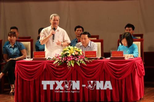 Lãnh đạo tỉnh Bắc Ninh gặp gỡ, đối thoại với công nhân lao động