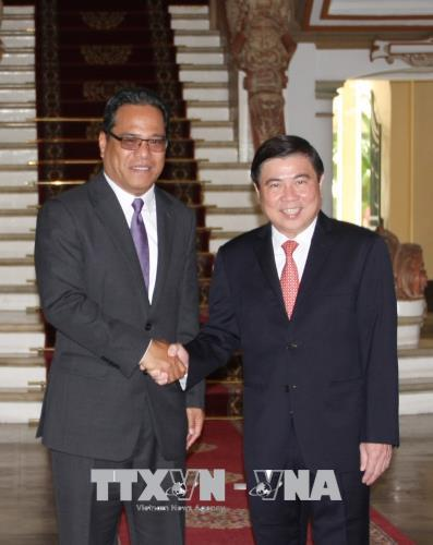 Lãnh đạo Thành phố Hồ Chí Minh tiếp Đoàn đại biểu cấp cao Quốc hội Liên bang Micronesia