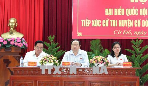 Các Đoàn Đại biểu Quốc hội tiếp xúc cử tri sau kỳ họp thứ 5, Quốc hội khóa XIV