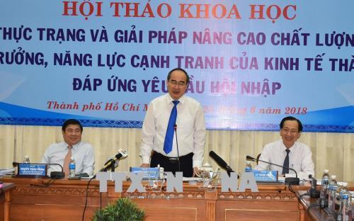 Nâng cao chất lượng tăng trưởng, năng lực cạnh tranh của kinh tế Tp. Hồ Chí Minh