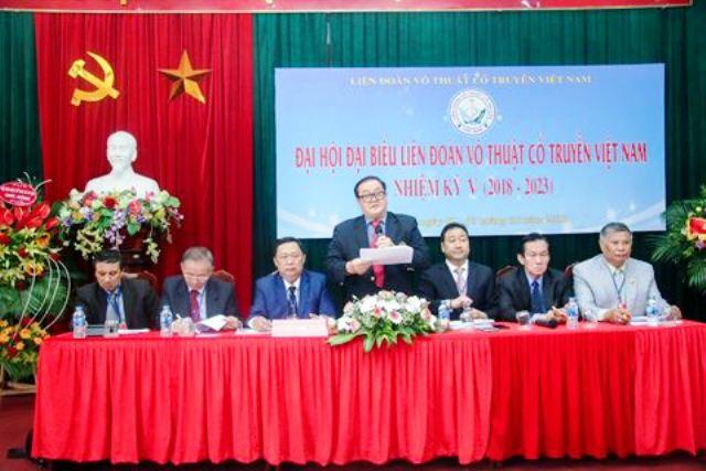Ông Hoàng Vĩnh Giang tiếp tục giữ cương vị Chủ tịch Liên đoàn võ thuật cổ truyền Việt Nam
