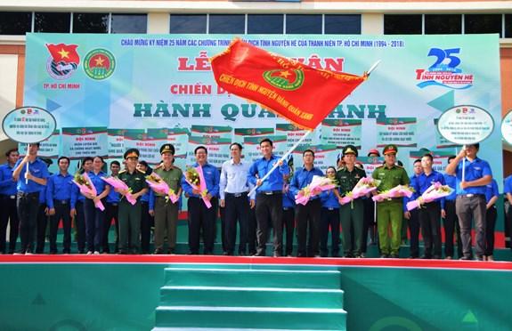 Hơn 18.000 cán bộ, chiến sĩ tham gia Chiến dịch tình nguyện Hành quân xanh năm 2018
