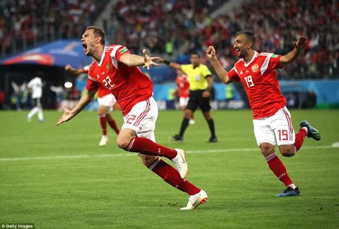 Hạ gục Ai Cập, Nga nắm chắc vé vào vòng 1/8 World Cup 2018
