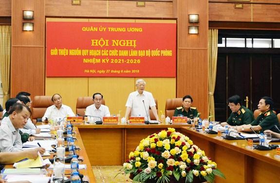 Quân ủy Trung ương giới thiệu nguồn quy hoạch các chức danh lãnh đạo Bộ Quốc phòng