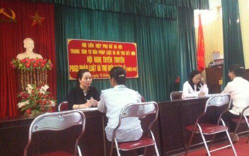 Hà Nội: Đẩy mạnh trợ giúp pháp lý lưu động cho phụ nữ tại địa bàn nhiều khó khăn, phức tạp, các điểm nóng