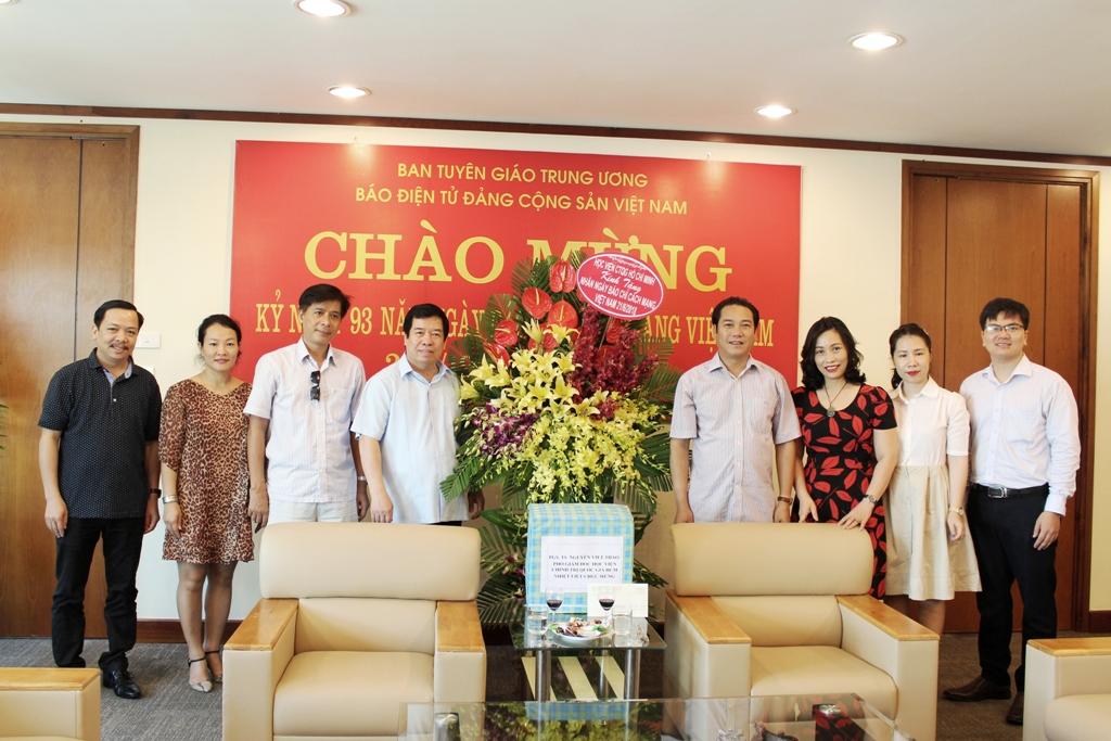 Lãnh đạo Học viện Chính trị Quốc gia Hồ Chí Minh chúc mừng Báo điện tử Đảng Cộng sản Việt Nam