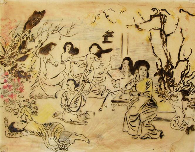 """Khai mạc Triển lãm """"Những phác thảo tranh của họa sĩ Nguyễn Gia Trí"""""""