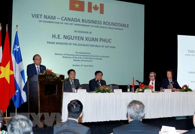Thủ tướng dự Tọa đàm doanh nghiệp Việt Nam - Canada