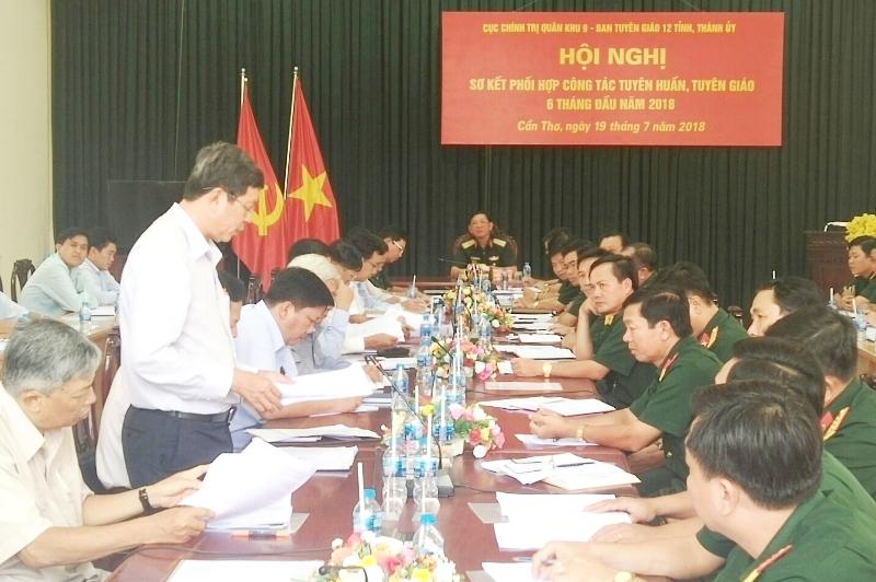 Sơ kết phối hợp công tác tuyên huấn, tuyên giáo 12 tỉnh, thành phố khu vực Đồng bằng sông Cửu Long