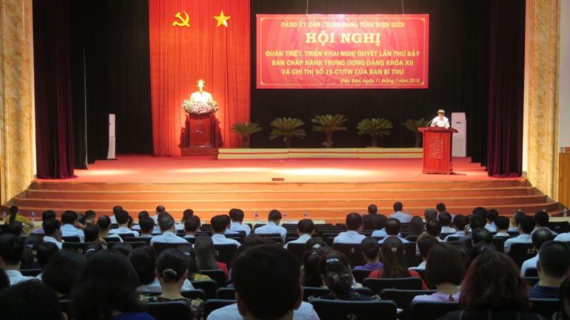Điện Biên: Quán triệt, triển khai Nghị quyết Trung ương 7 (khóa XII)