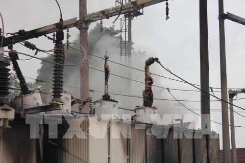 Cháy tại trạm biến áp 110KV Võ Cường, thành phố Bắc Ninh bị mất điện diện rộng