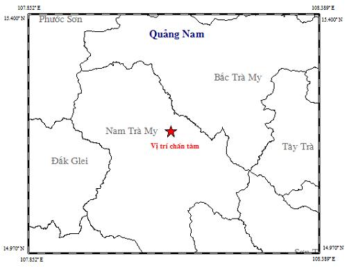 Nam Trà My (Quảng Nam): Liên tiếp xảy ra 2 trận động đất