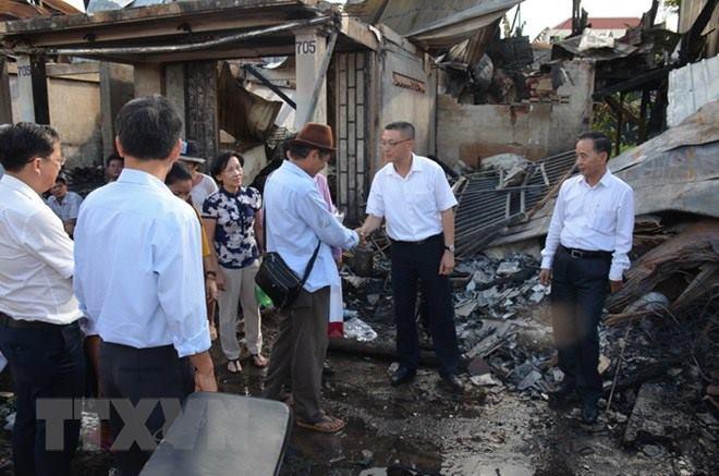 Cháy lớn thiêu rụi nhà cửa của hàng chục gia đình người gốc Việt tại Campuchia