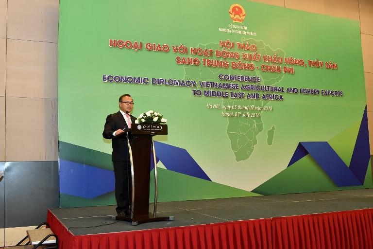 Ngoại giao với hoạt động xuất khẩu nông, thủy sản sang Trung Đông - Châu Phi