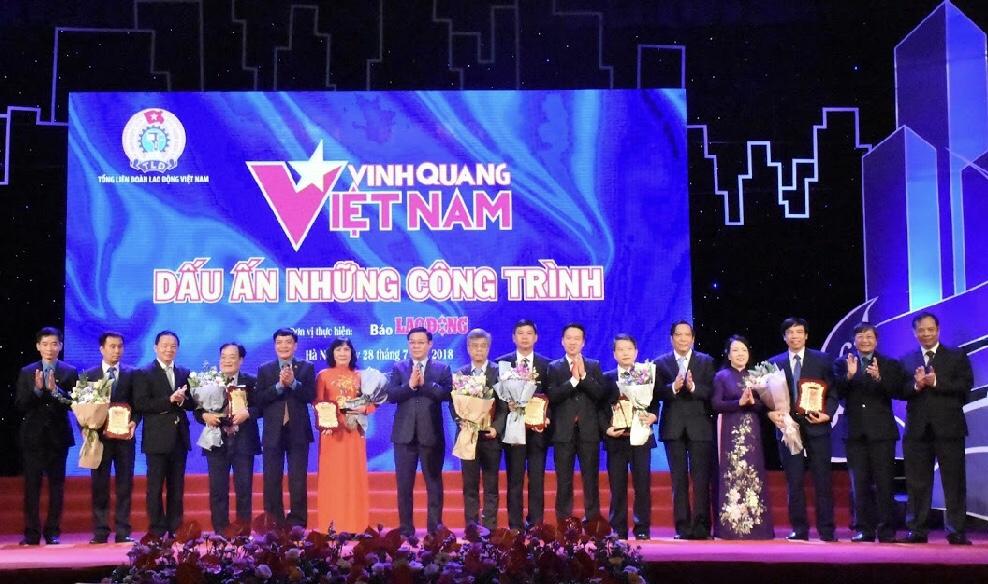 """Vinh danh 8 công trình tiêu biểu trong chương trình """"Vinh quang Việt Nam - Dấu ấn những công trình"""""""