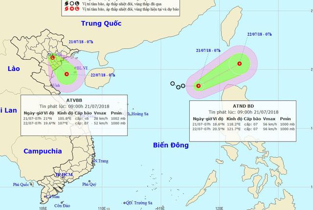 Khả năng sắp xuất hiện áp thấp nhiệt đới trên khu vực Vịnh Bắc Bộ