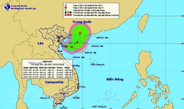 Áp thấp nhiệt đới khả năng mạnh thêm, Bắc Bộ và Bắc Trung Bộ lượng mưa phổ biến 50-100mm/12 giờ