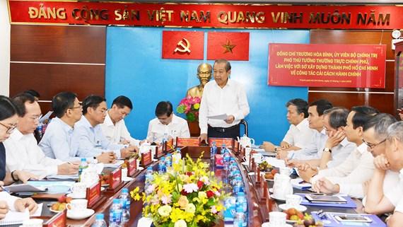 Phó Thủ tướng Trương Hòa Bình kiểm tra công tác cải cách hành chính tại Thành phố Hồ Chí Minh