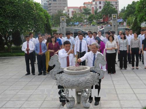 Dâng hương tưởng niệm 106 năm ngày sinh Tổng Bí thư Nguyễn Văn Cừ