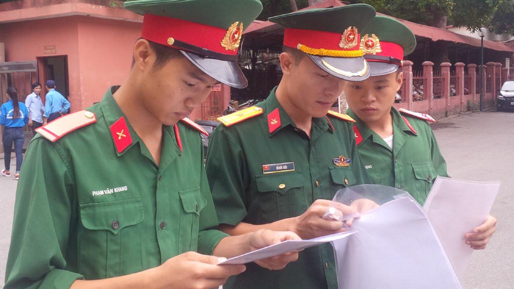 Công bố ngưỡng điểm xét tuyển vào các trường Quân đội năm 2018