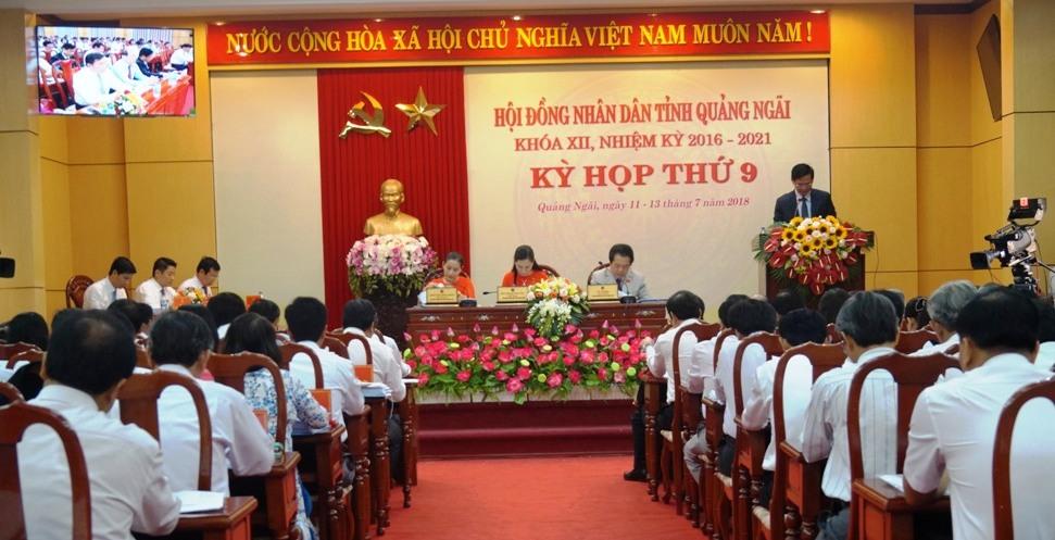 Khai mạc kỳ họp thứ 9, HĐND tỉnh Quảng Ngãi khóa XII  