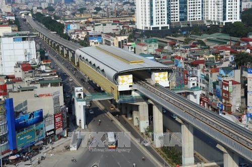 Đường sắt Cát Linh - Hà Đông đã được đóng điện lưới quốc gia để chạy thử nghiệm