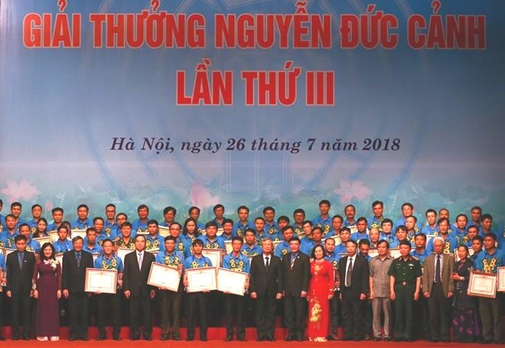 70 cá nhân tiêu biểu vinh dự nhận Giải thưởng Nguyễn Đức Cảnh
