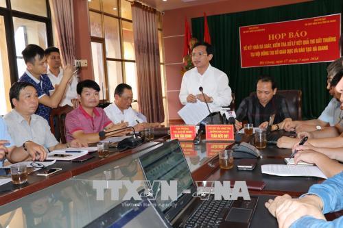 Khởi tố hình sự vụ điểm thi cao bất thường tại Hà Giang