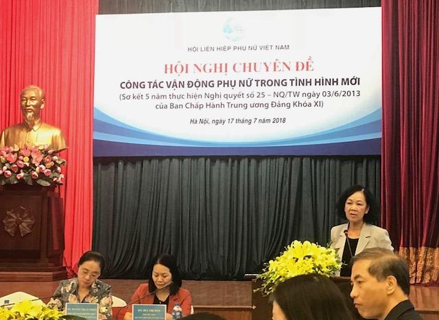 Tổ chức nhiều hoạt động nhằm hỗ trợ các đối tượng hội viên, phụ nữ ở các địa bàn khác nhau