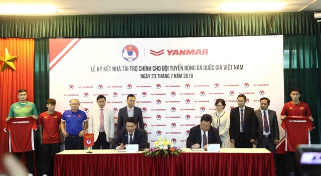Yanmar là nhà tài trợ chính cho đội tuyển bóng đá Quốc gia Việt Nam