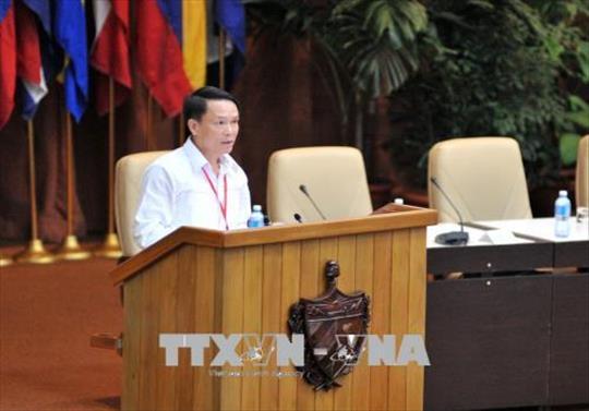 Đoàn đại biểu Đảng ta tham dự Diễn đàn Xao Pao-lô lần thứ 24