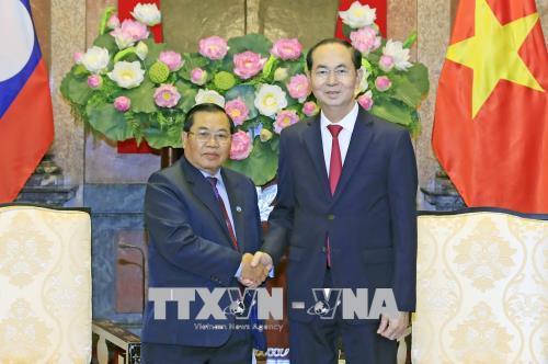 Chủ tịch nước Trần Đại Quang: Việt Nam- Lào cần tăng cường hợp tác trên các diễn đàn nghị viện đa phương, khu vực và quốc tế