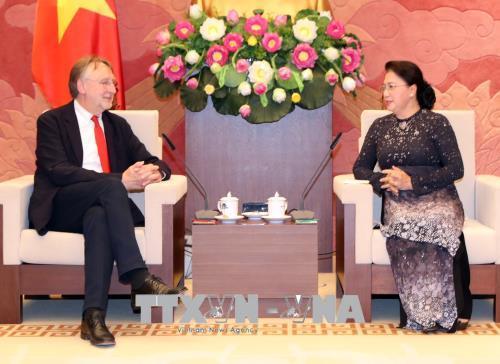 Chủ tịch Quốc hội Nguyễn Thị Kim Ngân tiếp Chủ tịch Ủy ban Thương mại quốc tế Nghị viện châu Âu