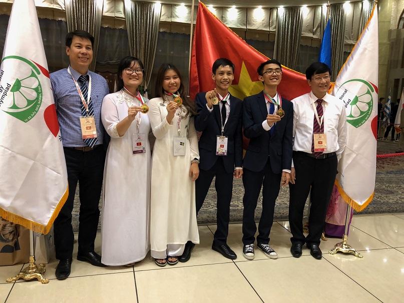 Việt Nam giành 3 Huy chương Vàng Olympic Sinh học quốc tế lần thứ 29