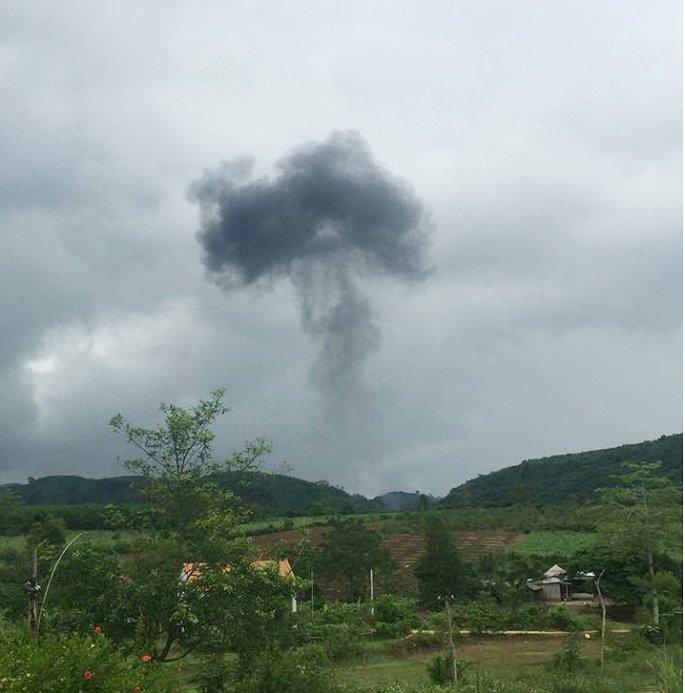 Máy bay quân sự rơi tại Nghĩa Đàn (Nghệ An), hai phi công hy sinh